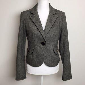 Express Tweed Wool Blazer